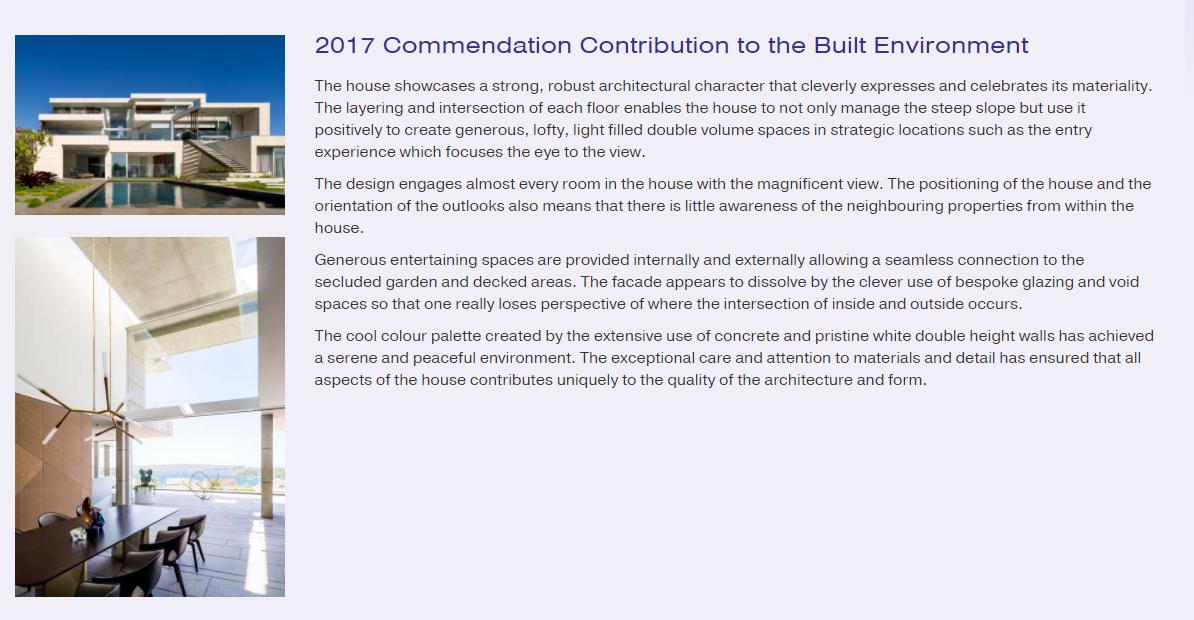 Commendation Contribution